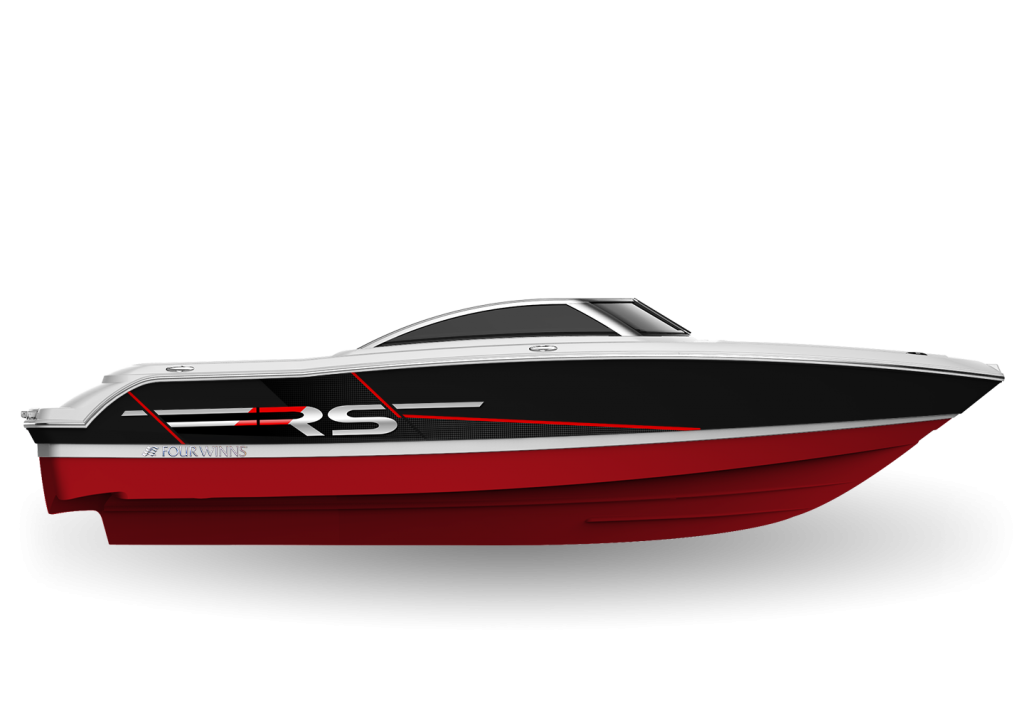 Four Winns Horizon 190 RS Jet Black & Crimson Red